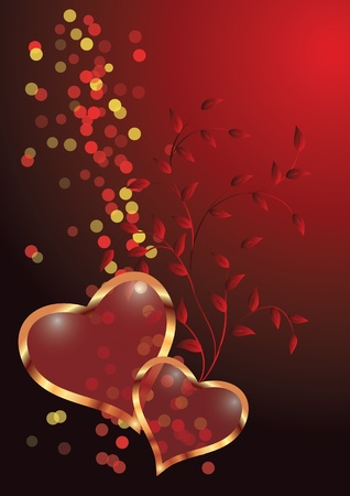 Valentine Day with ornaments Illustration