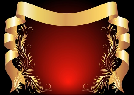 packing tape: Background with golden ornament for various design artwork