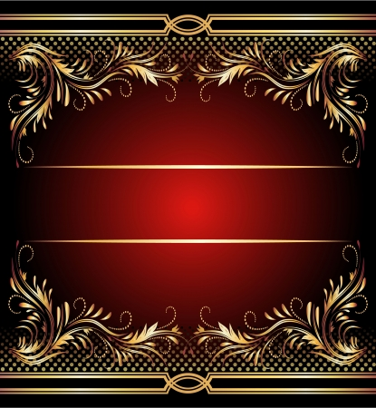 elegant: Background with golden ornament for various design artwork