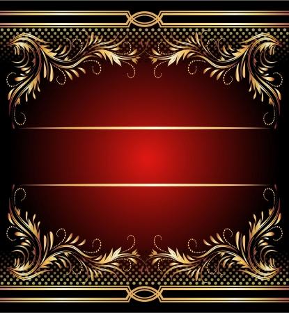 Sfondo con ornamento d'oro per arte e di design vari
