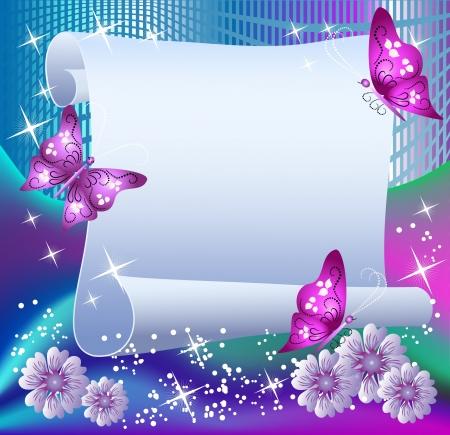 załączyć: Magia tÅ'o z papieru, motyle i miejsce dla tekstu