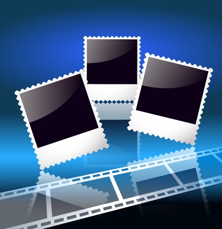 page layout: Page layout photo album with filmstrip