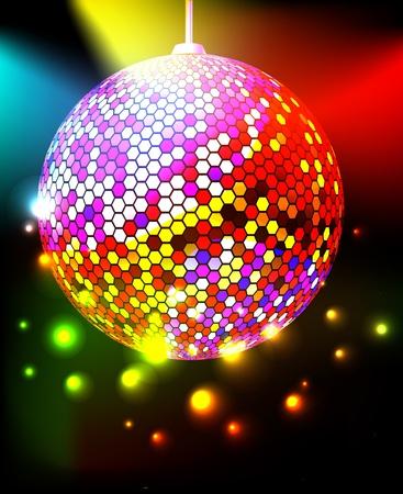 espejo: De fondo de celebración con bola de discoteca Vectores