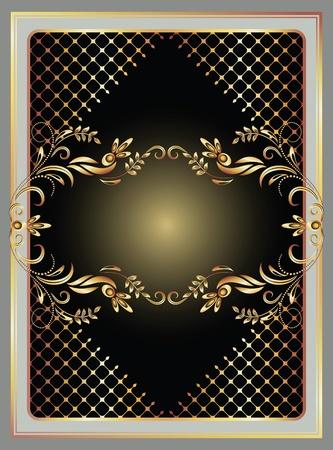 Background with golden ornament for vaus design artwork Stock Vector - 12469492