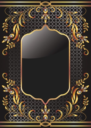Background with golden ornament for vaus design artwork Stock Vector - 12469504