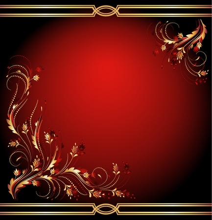Background with luxury golden ornament Vector