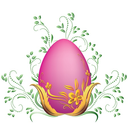 Easter egg and floral ornament Stock Vector - 12809025