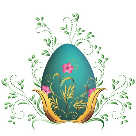 smoothness: Easter egg and floral ornament