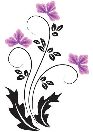 tendril: Decorative flowers ornament