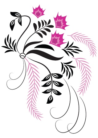 Decorative flowers ornament  Vector
