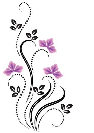 romanticism: Decorative flowers ornament