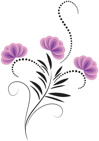 Decorative flowers ornament  Stock Vector - 12809017