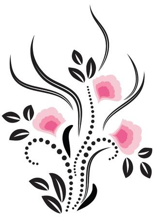 flores abstractas: Flores ornamento decorativo