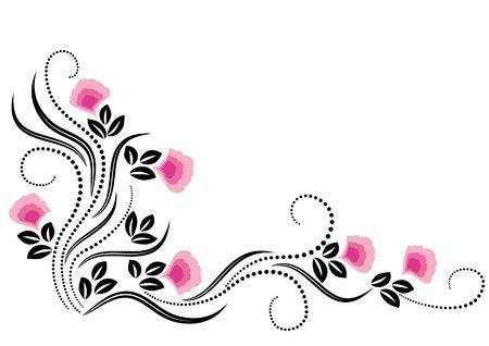 dessin fleur: D�coratif ornement fleurs