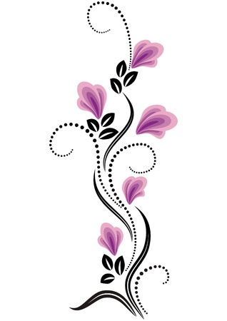 tatouage fleur: D�coratif ornement fleurs