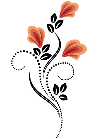 tendrils: Decorative flowers ornament