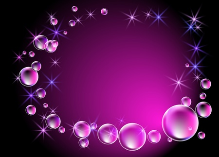 Glowing background with bubbles and stars  Stock Vector - 12809293