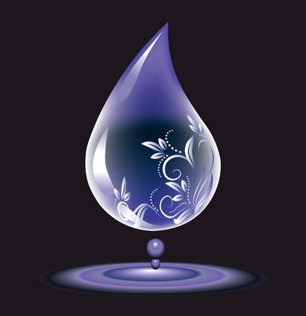 Water-drop   Stock Vector - 13035673