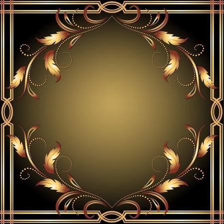 Background with golden ornament for various design artwork