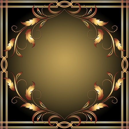 Background with golden ornament for vaus design artwork Stock Vector - 13531811