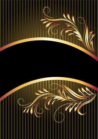 Background with golden ornament and a place for your text Stock Vector - 13948168
