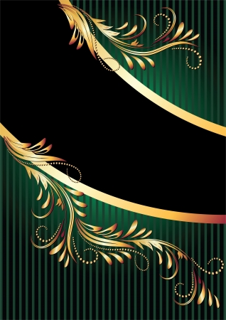 Background with golden ornament and a place for your text Stock Vector - 13979124