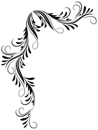 utsirad: Dekorativa hörn prydnad Illustration