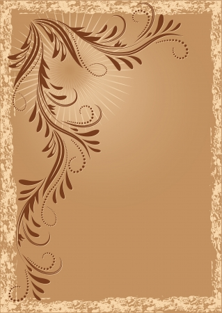 Vintage background with ornament Stock Vector - 13979126