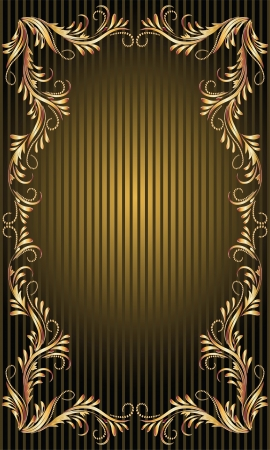 Background with golden ornament and a place for your text Stock Vector - 13979130