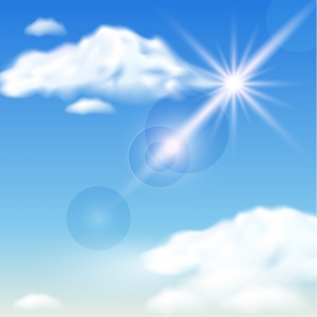 Sky, clouds  and  sunshine Stock Vector - 14035005
