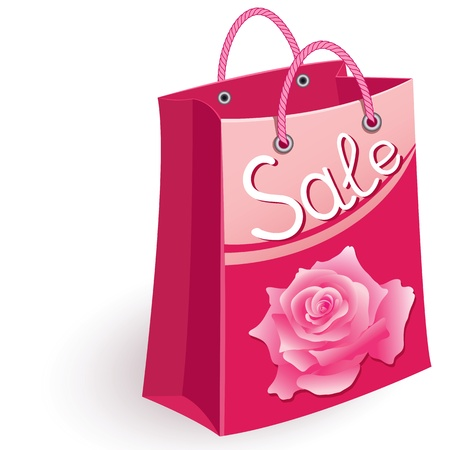 mall shopping: Paper shopping bag