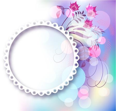 lace edges: Page layout photo album with floral ornament