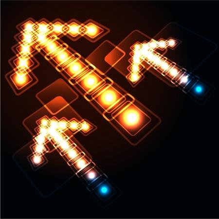 brillant: Glowing Hintergrund mit Pfeilen