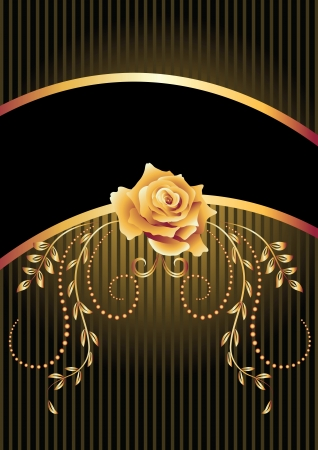 Background with golden ornament and a place for your text Stock Vector - 14123034