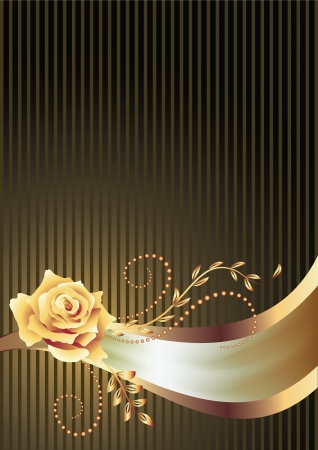 packing tape: Background with golden ornament and a place for your text Illustration
