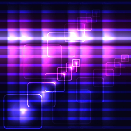 translucent: Glowing violet vector background with luminous squares and striped