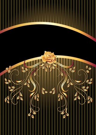 Background with golden ornament and a place for your text Illustration