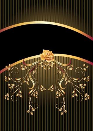 Hintergrund mit goldenen Ornamenten und einem Platz für Ihren Text