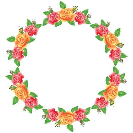 Blumen runden Rahmen