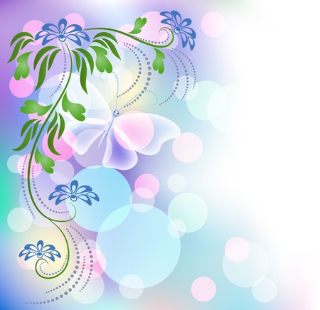 transparent brush: Floral background with boke