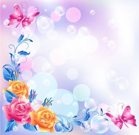 Floral background mit Boke Illustration