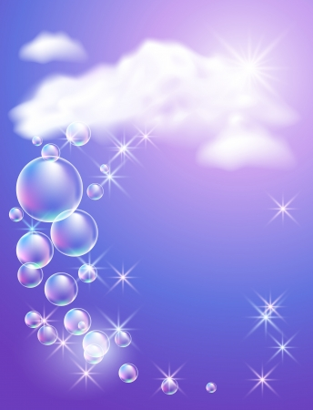 high beams: Sky, clouds, bubbles  and  sunshine