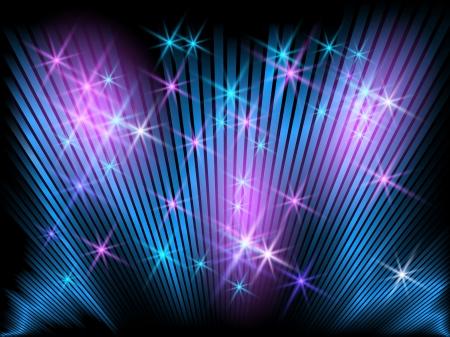 Hintergrund mit leuchtenden Streifen und Sternen Illustration
