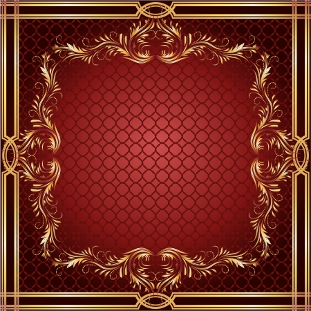 front page: Background with golden ornament and a place for your text