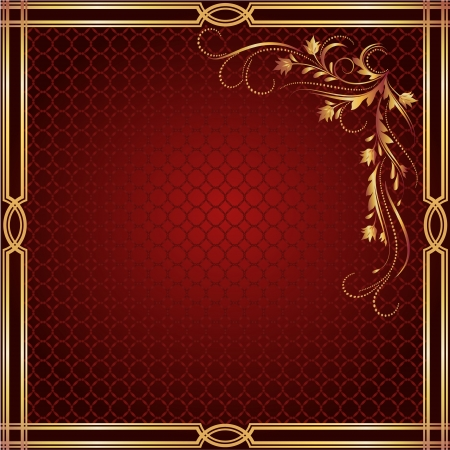 excoriation: Background with luxurious golden ornament