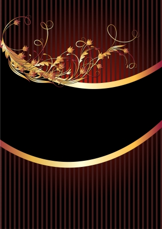 Background with luxurious golden ornament Stock Vector - 15602283