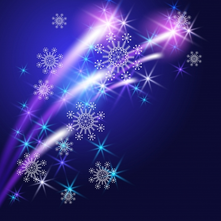 Christmas background with snowflakes and salute Stock Vector - 15759878