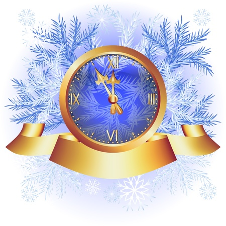 Christmas background with chimes and spruce branches Stock Vector - 15983620