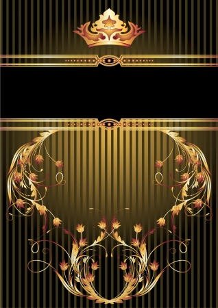 Background with luxurious golden ornament and crown Stock Vector - 17417697
