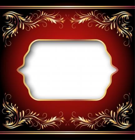 elegant frame: Background with golden ornament and elegant frame Illustration